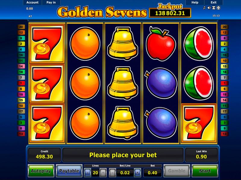 Jogo de caça-níquel Golden Sevens grátis